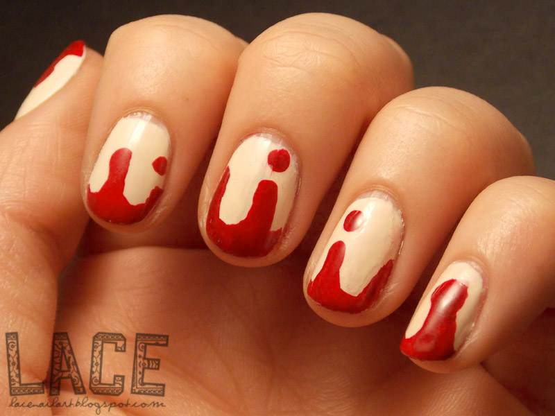 lace: a nail art blog: Halloween Themed Nails! - Bloody Drips