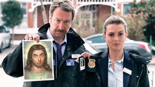 Funny Jesus Wanted By Police Poster Picture