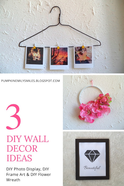 3 DIY Wall Decor Ideas