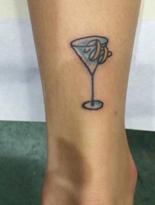 martini glass tattoo