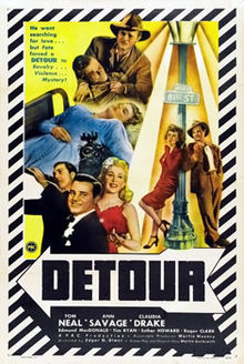Public domain film noir: Detour (1945) | stills from a nerdy movie