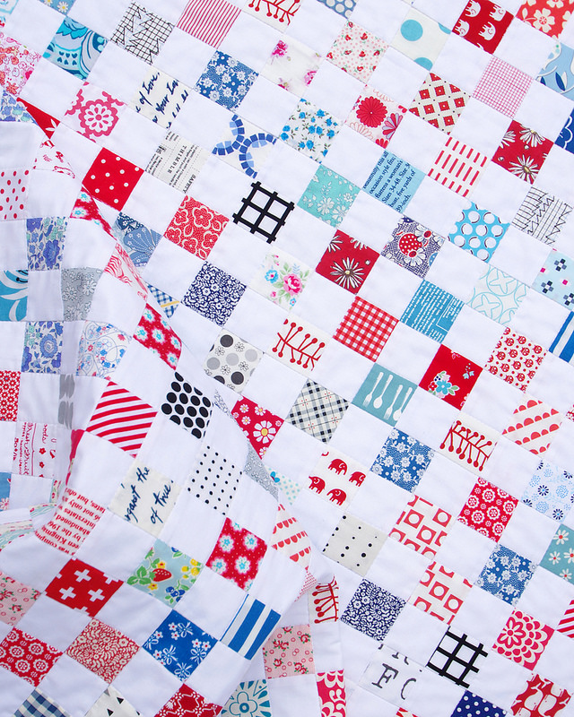 Red White Blue Postage Stamp Quilt | Red Pepper Quilts 2016