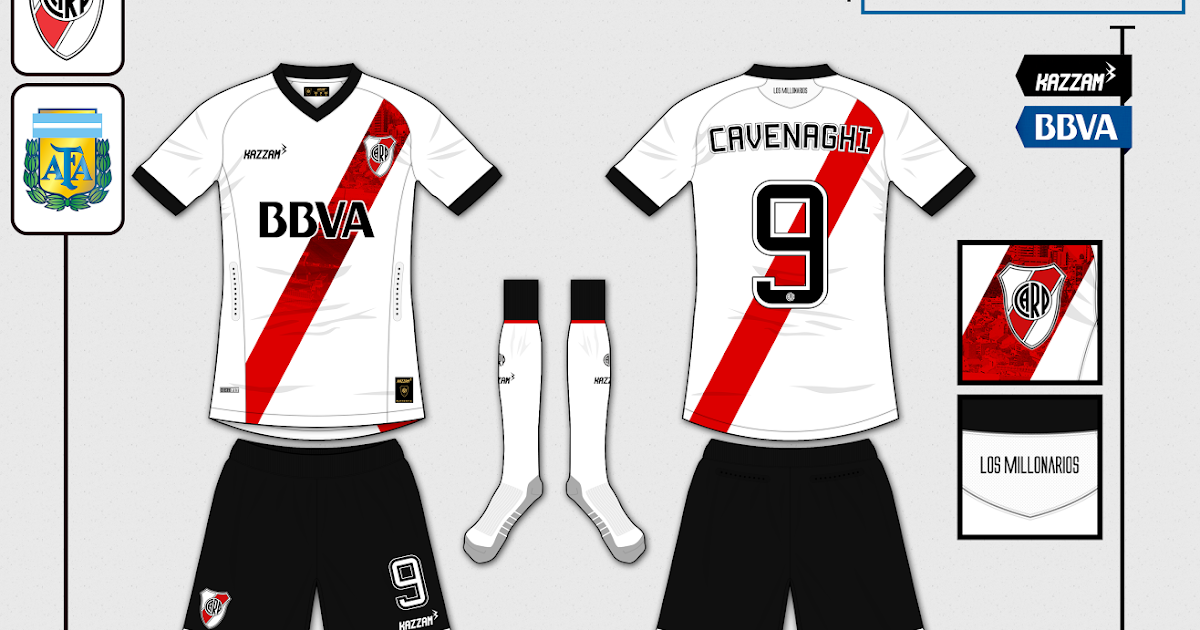 Club Atlético River Plate Fantasy Home Kit (Kazzam