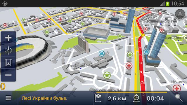 Карты Карт Бланш в программе под Android