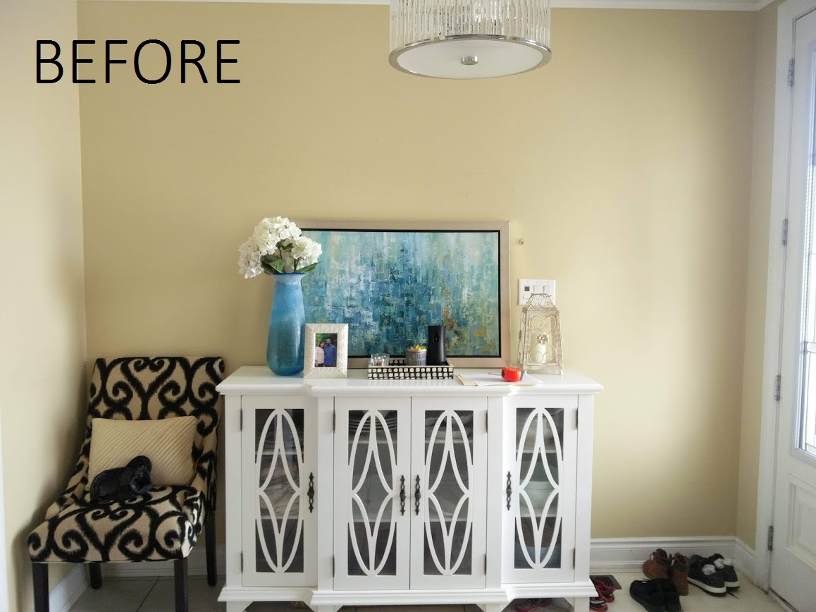 Luxury foyer before and after