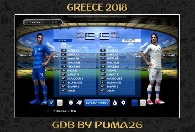 Greece 2018 Kit PES 2013