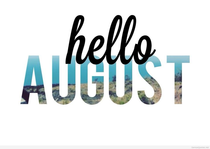 ByElisabethNL: Goodbye July and Welcome August!