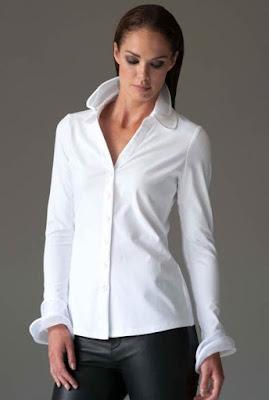 personalizar una camisa añadiendo cuello de organza. Patrón de cuello