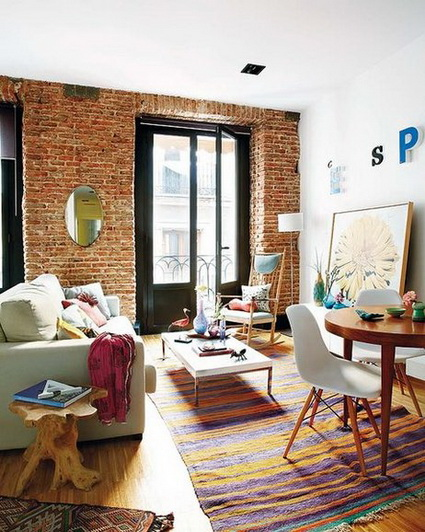 Living rooms with exposed brick 3