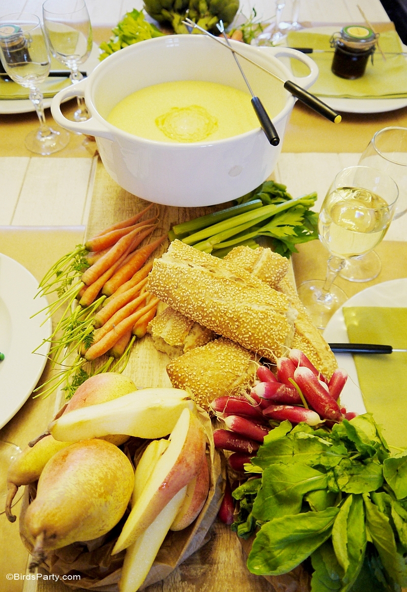 How to Style a Cheese Fondue Party at Home - BirdsParty.com