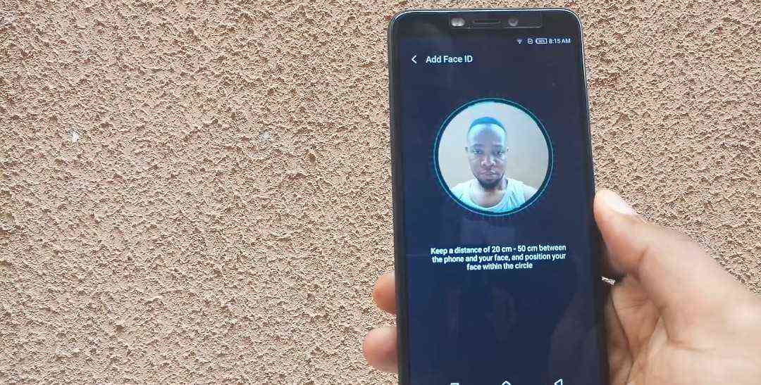 Infinix face unlock on Hot S3/S3X