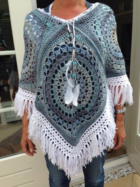 Poncho In Crochet Easy Step By Step Pattern Free