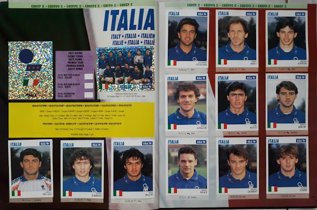 USA 94 WORLD SOCCER CHAMPIONSHIP GROUP E ITALIA