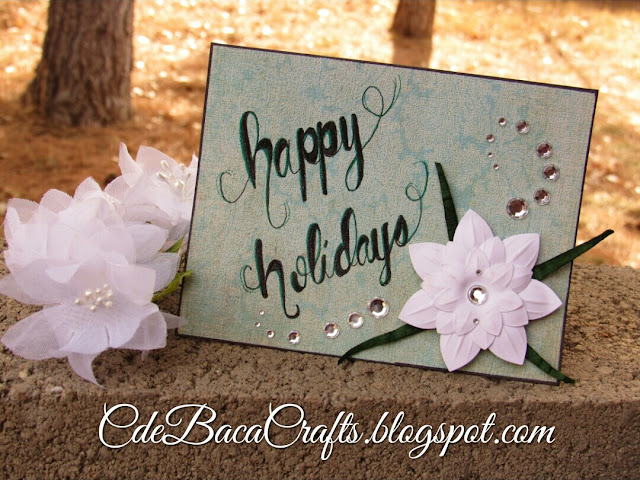 Holiday cards cardmaking by CdeBaca Crafts blog.
