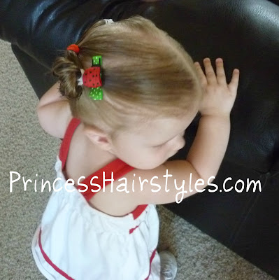 lady bug hair barette