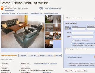 telefon 06500999820 sch ne 3 zimmer wohnung m bliert b dingerstr. Black Bedroom Furniture Sets. Home Design Ideas