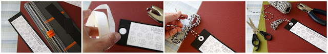 Step-by-step making a homemade bookmark