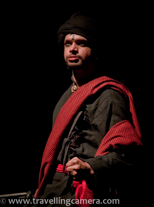 Recently Ranjit Kapoor directed three new plays with NSD Repertory - 'Chekhov ki Duniya', 'Aadamzad' and 'Punchlight' !!! Sunil Upadhyay being one of the main characters in these plays. Let's have a qucik PHOTO JOURNEY of Aadamzad play, which was showcased at Sammukh, NSD, Mandi House, Delhi !!While one troop of NSD Repertory company is busy in Banglore and other cities, Ranjit Kapoor picked other folks to work on three new plays. Other folks are showing Summer Theatre plays in other cities. Sunil was one of the main characters in those plays but he stayed back for these new set of plays and did a great job !!!Aadamzad starts with a song by whole cast of this wonderful play by Ranjit Kapoor. This time I was not very comfortable in clicking photographs inside this auditorium. During Summer Festival, NSD used to announce that 'don't use flash during play', but this time there was no such announcement, so I was not comfortable. Although I  had taken permissions. At times, people start clicking photographs with Mobiles and by default flash is ON for low light conditions. This becomes really weird while play is running and someone use flash. Most of the times, I take few seconds to lift us the camera and click a shot with appropriate gap between two consecutive shots. It's really important to make sure that we don't distract audience and actors in that auditorium !!!Aadamzad is a story about people with bad intentions for their selfish reasons. It started with a couple who were trying to have baby and had tried various tantras to have a baby. It's difficult for me to explain the extent to which they did wrong things to have one. The man standing above is talking to her 5th wife and you need to watch the play for knowing the story of other 4 wives...Then a girl came to their place and started telling her story.. Here she is getting married to a businessman. Just after marriage her husband went back to his business-city. She got pregnant and then left her 15 days baby at home... Again to know more about the reason, 'why'... you need to see Aadamzad !!!These folks sing wonderful songs during the play !!! There are various songs during the play and all of them are actually sung by actors of this play. Anirudh was lead singer here and he sung them really well !!!Prasanna Soni, who was playing the role of brother-in-law of lady who left her home. He was regularly describing whole situation to his elder brother although in a different form. Without disclosing more about him, I will simply close the caption of this photograph here.After some efforts by this person, baby was rescued from the other village, but story took a turn here. This couple was unimaginably cruel and did some acts which can't be described here. Watching this play becomes must to know about this human nature for selfish reasons...Let me shut up and not disclose the story here !!! Few things are obvious in these photographs but, play was not that obvious... So keep guessing and wait for next act of Aadamzad !!!Expressions can be wrong and overall environment can be misleading... Aadamzad also talk about this fact that how cheap things human-beings can do when it comes to their personal benefits.Weapons are used in this play very well... Overall actions were flawless and close to real stuff !!That baby became a 'Daku' later ... Sunil Upadhyay played the role of this 'Daku'.. But why he is standing with this couple who are not his parents. Does he know about his past and what he wants to do in future ?Rajini, who never got pregnant and kept trying different tona-totkas ... But unhappy most of the times... She was fifth wife of Kailash (original name of this character)Cast of Aadamzad :: Deep Lumar == Jawed == ?? == Madhumita == Anirudh Wankar == Rajini == Kailash Chauhan== Prasanna Soni == Sunil UpadhyayAnirudh Wankar was main dictator of this story and he was really amazing. He described various acts brilliantly and sung each song with full enthusiasm.A Photograph of Ranjit Kapoor who directed this play. After 4 shows at Sammukh, NSD.. this cast will showcase Aadamzad in 13 different cities of Madhya Pradesh !!! All the best Guys !!!