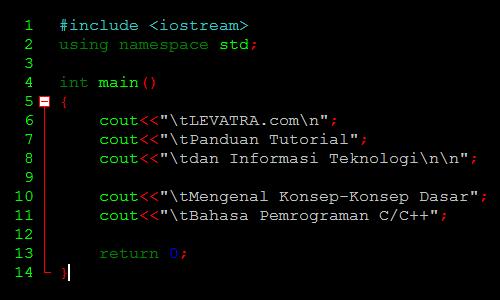 Mengenal Konsep-Konsep Dasar Bahasa Pemrograman C/C++