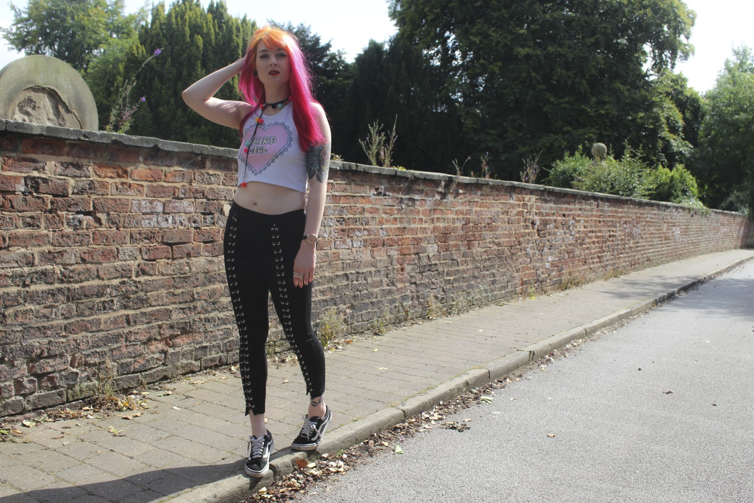Alternative Style Blogger Foxxtailz styles ROMWE eyelet Leggings