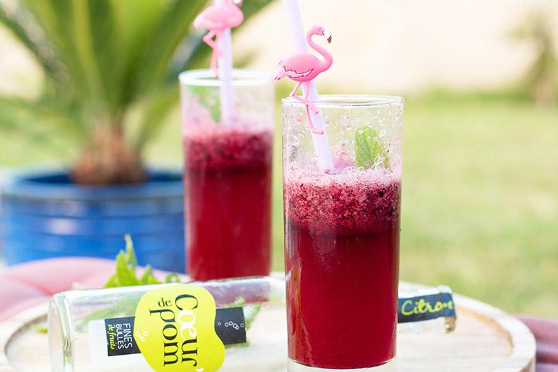 recette Cocktail pomme fruits rouges