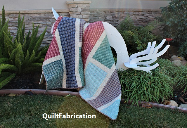 Reindeer 2 and Quarter Cut 3 quilt by QuiltFabrication