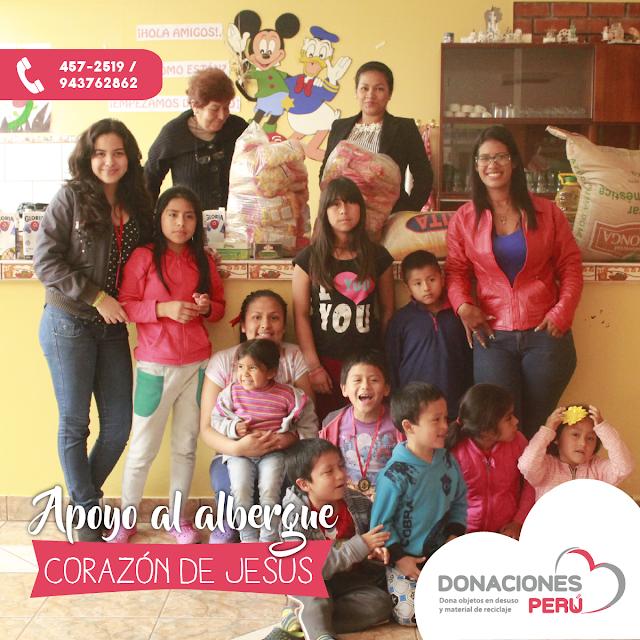 """Apoyo al albergue """"Corazón de Jesús"""""""