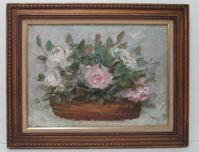 Pink and White Flowers Oil Painting by Zaza Meuli