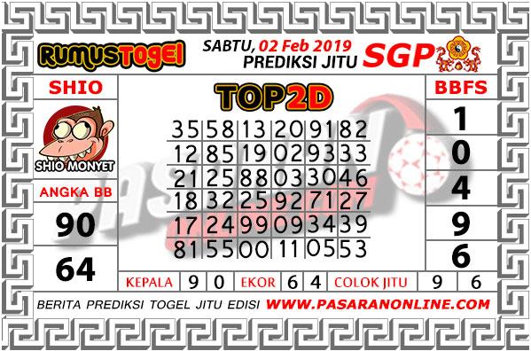 PREDIKSI TOGEL SGP | SABTU, 02 Febuari 2019