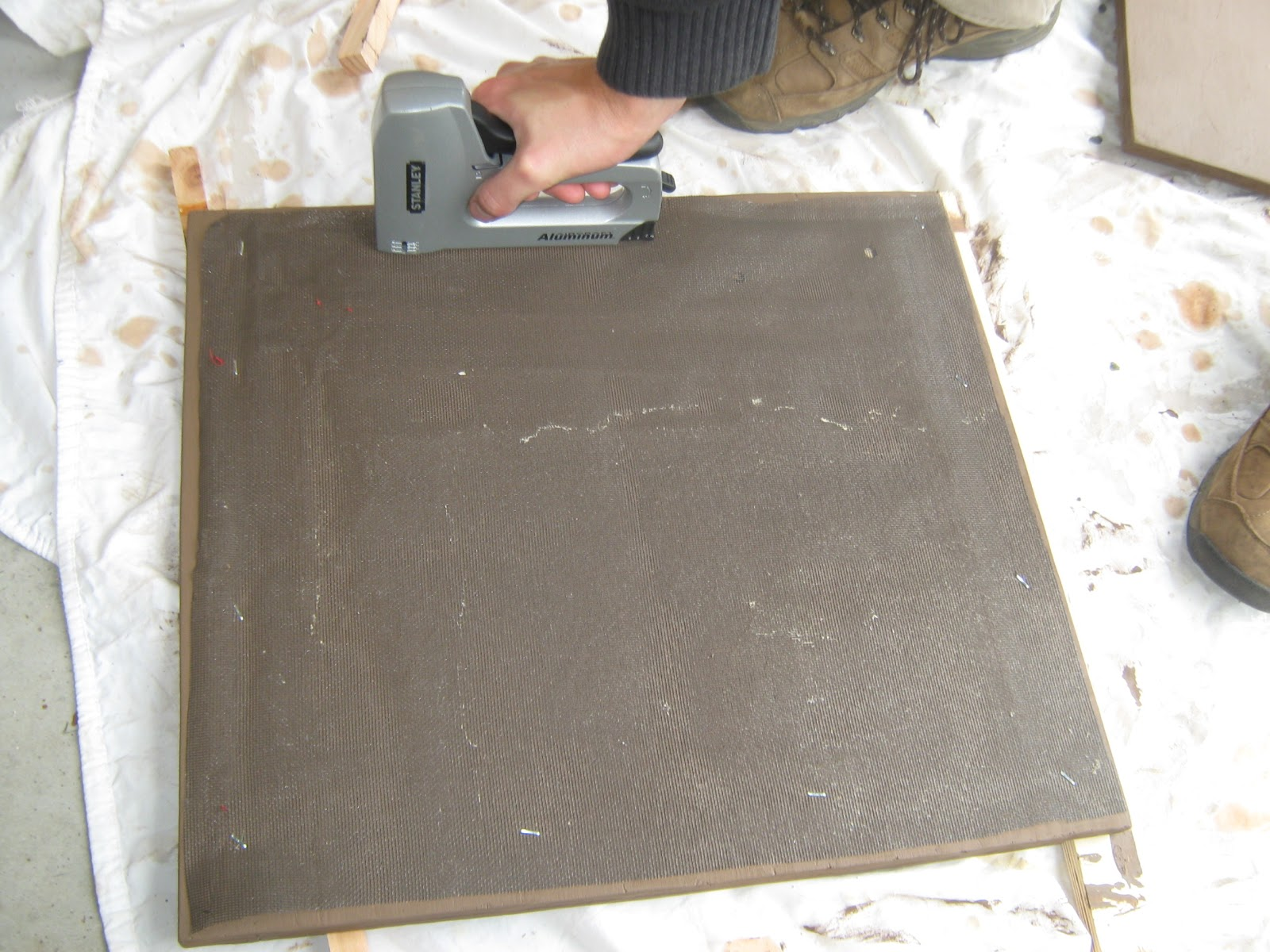 Staple Plastic Screen Or Cut Grooves On The Back Board Do Not Use Metal Because It Will Rust Over Time Gives Bats