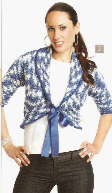 Patrón #1485: Chaqueta a Crochet