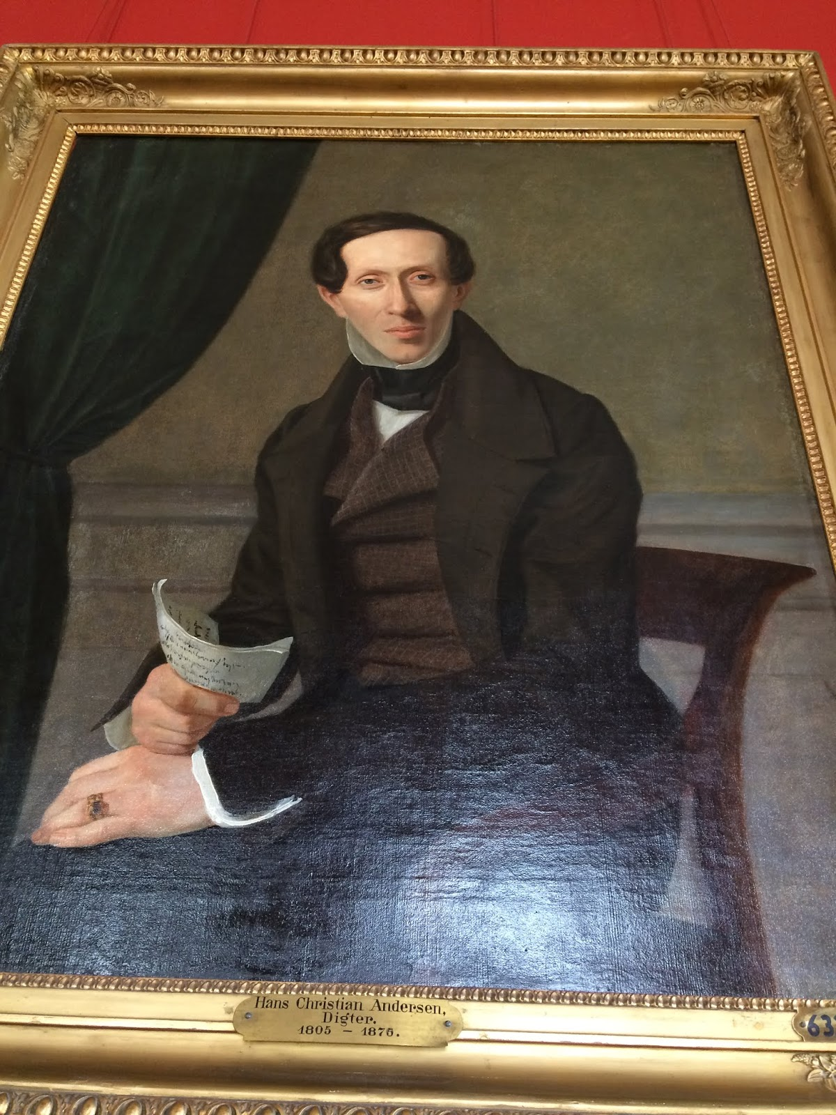 Portrait of Hans Christian Andersen in Frederiksborg Castle