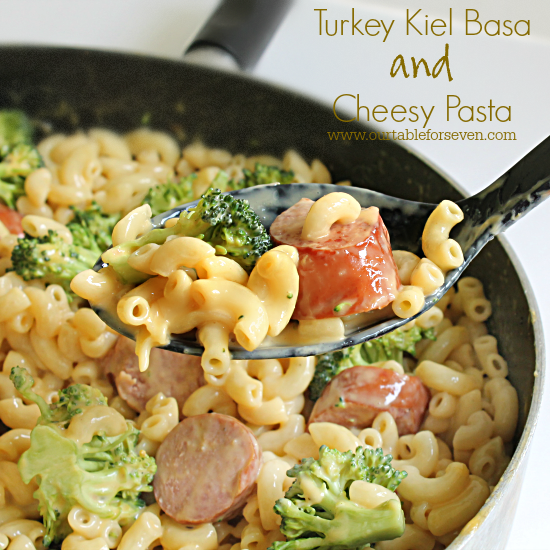 Turkey Kielbasa and Cheesy Pasta from Table for Seven