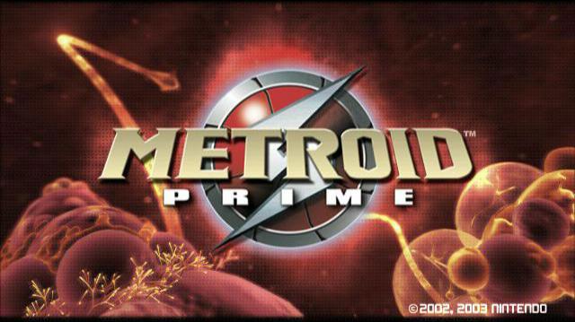 Metroid Prime title screen Europe