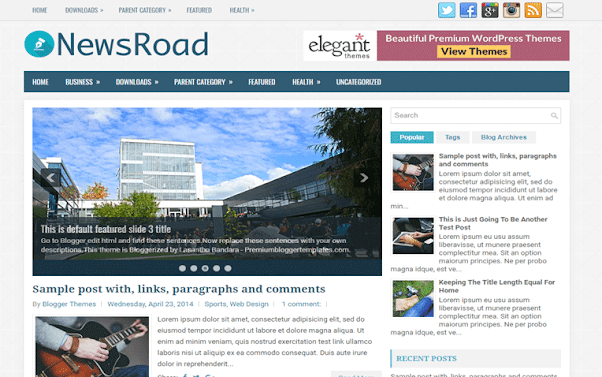 NewsRoad Free Blogger Template