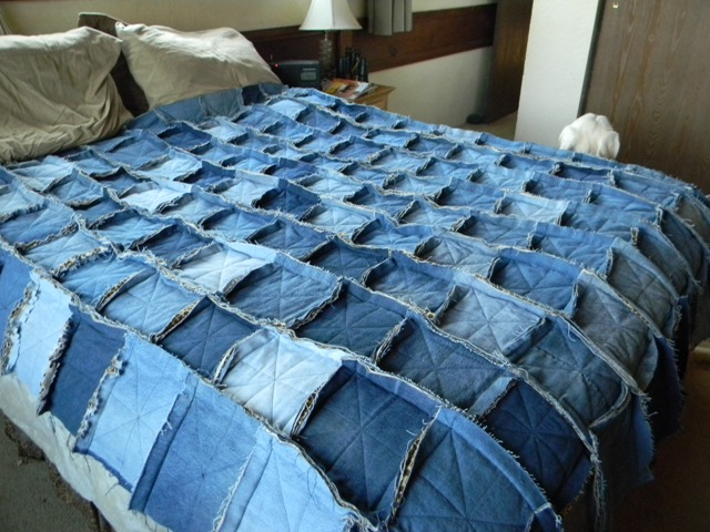 A Tale of Two Quilters Denim Rag Quilt