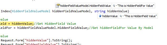 Access Hidden Or HiddenFor Fields Value At Controller End In