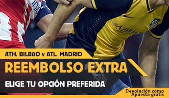 betfair reembolso 25 euros Athletic vs Atletico 21 diciembre