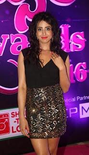Actress Sanjana Stills Fashion Dress at Apsara Awards 2016  0003