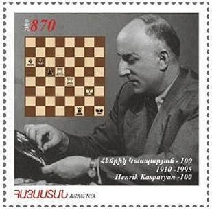 Sello del Centenario del nacimiento de Genrikh Kasparian