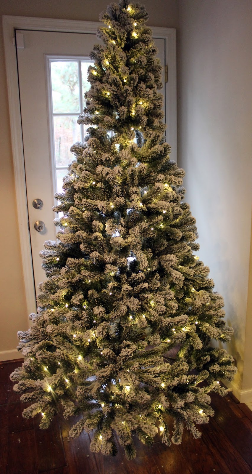Our Creative Life New Flocked Christmas Tree