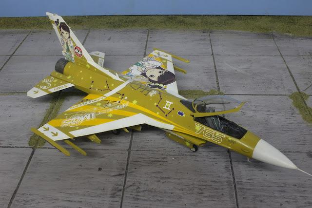 maquette du F-16C Idolmaster  d'Hasegawa au 1/48.