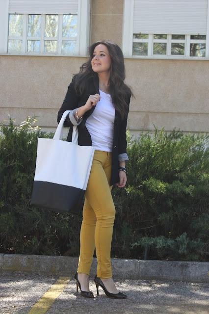 DIY Cómo hacer este maxi-bolso de cuero blanco y negro