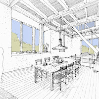 陶芸工房を併設した三階建ての二世帯住宅