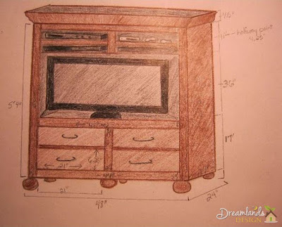 Entertainment Center of wood