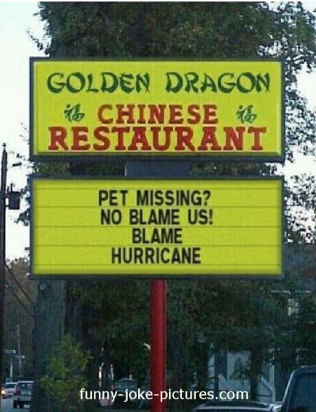 Funny Chinese Restaurant Sayings