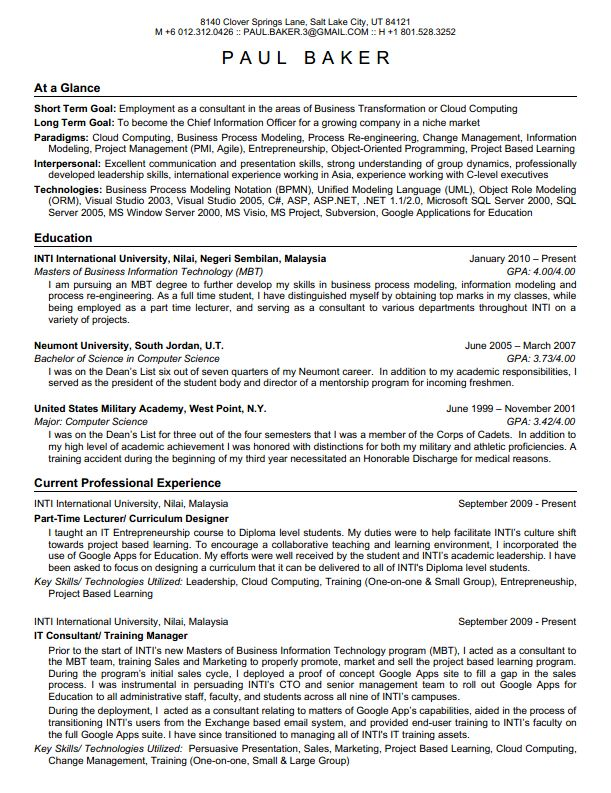 jackie u0026 39 s point of view  guidelines on how to write a good resume