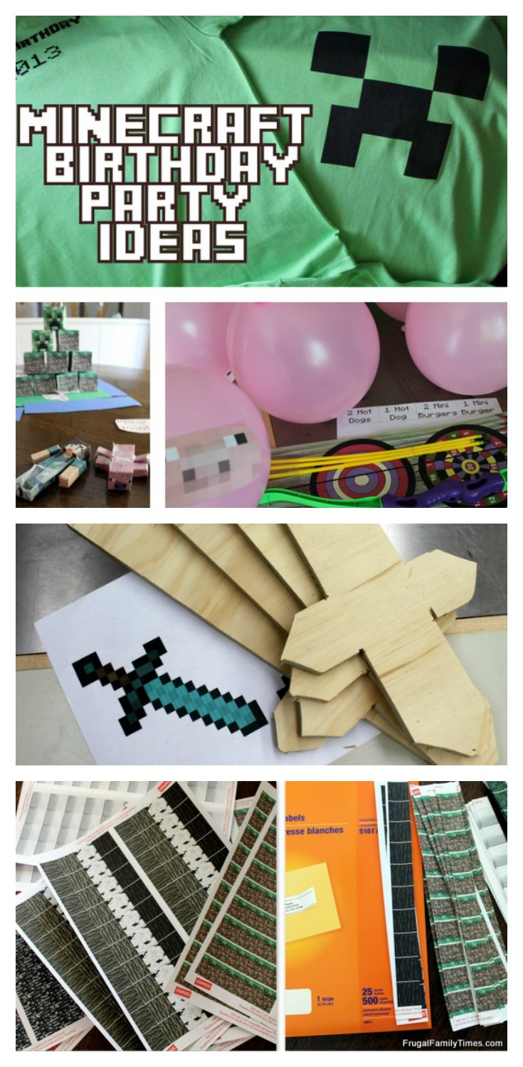 crafting party ideas minecraft birthday printables crafts and 1740