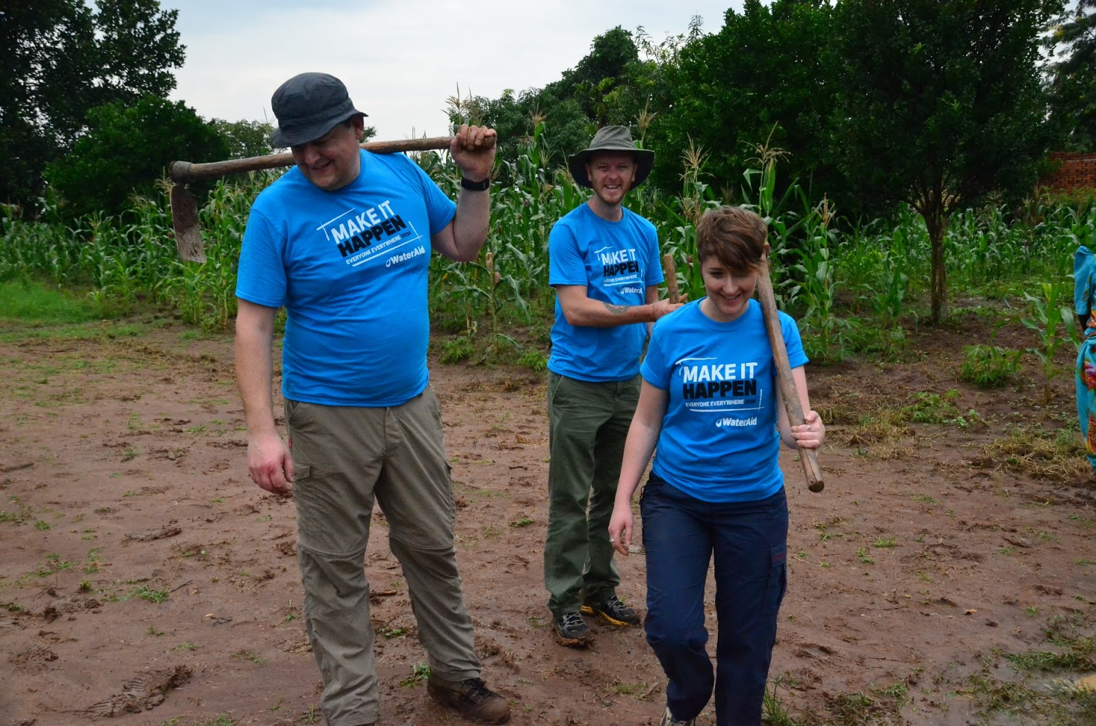 Wateraid Supporters From Dwr Cymru Welsh Water Visit Nameje Village Uganda A Day Life Of A Rural Family With Out Safe Water And Toilets