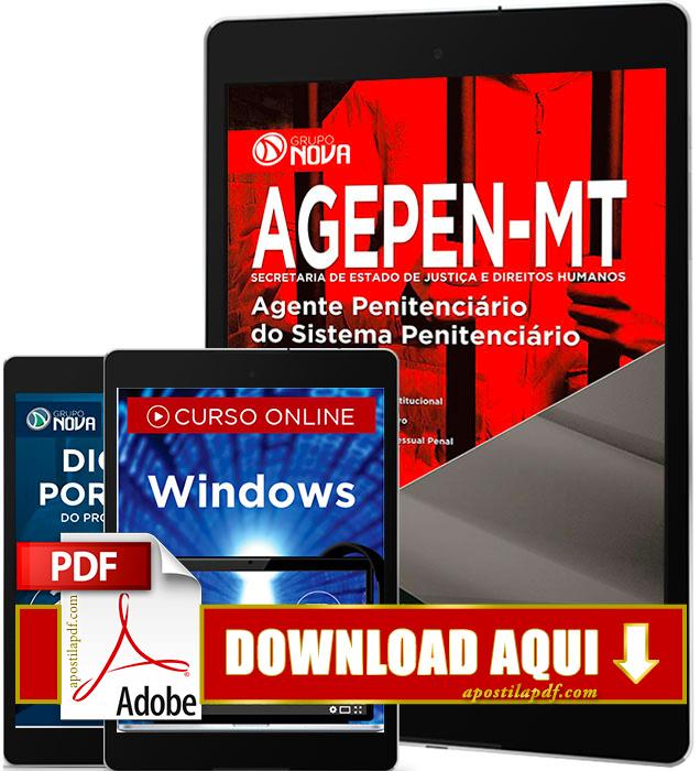 Apostila AGEPEN MT 2016 PDF Download Agente Penitenciário
